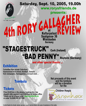 4th Rory Gallagher Review 2005