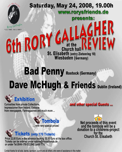 Rory Gallagher Tribute Featuring: Bad Penny (GER), Dave McHugh & Friends