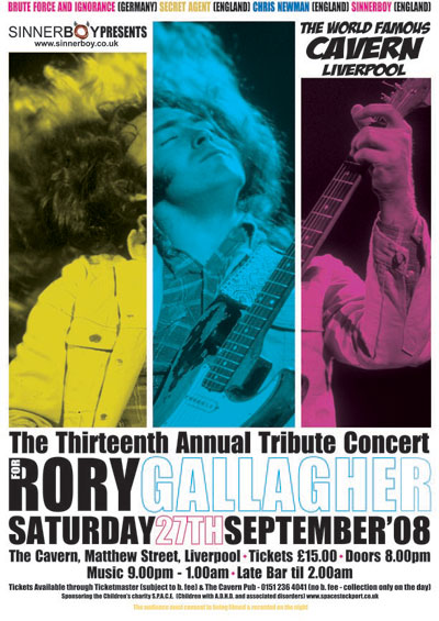 The 13th Annual Rory Gallagher Tribute Concert