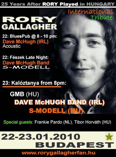 Rory Gallagher Tribute Budapest