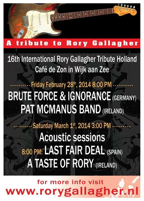 Rory Gallagher Holland Tribute